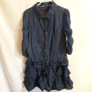 Guess girls Jean dress Blue Size:S(7/8)